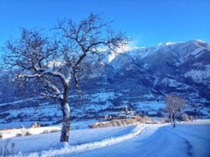 Eygliers chef lieu en hiver