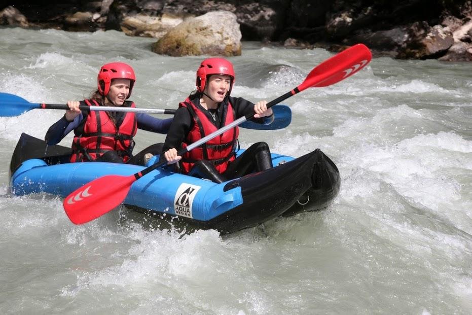 rafting kayak mountain biking ski mountaineering, Sports – rafting – kayak in the Alps