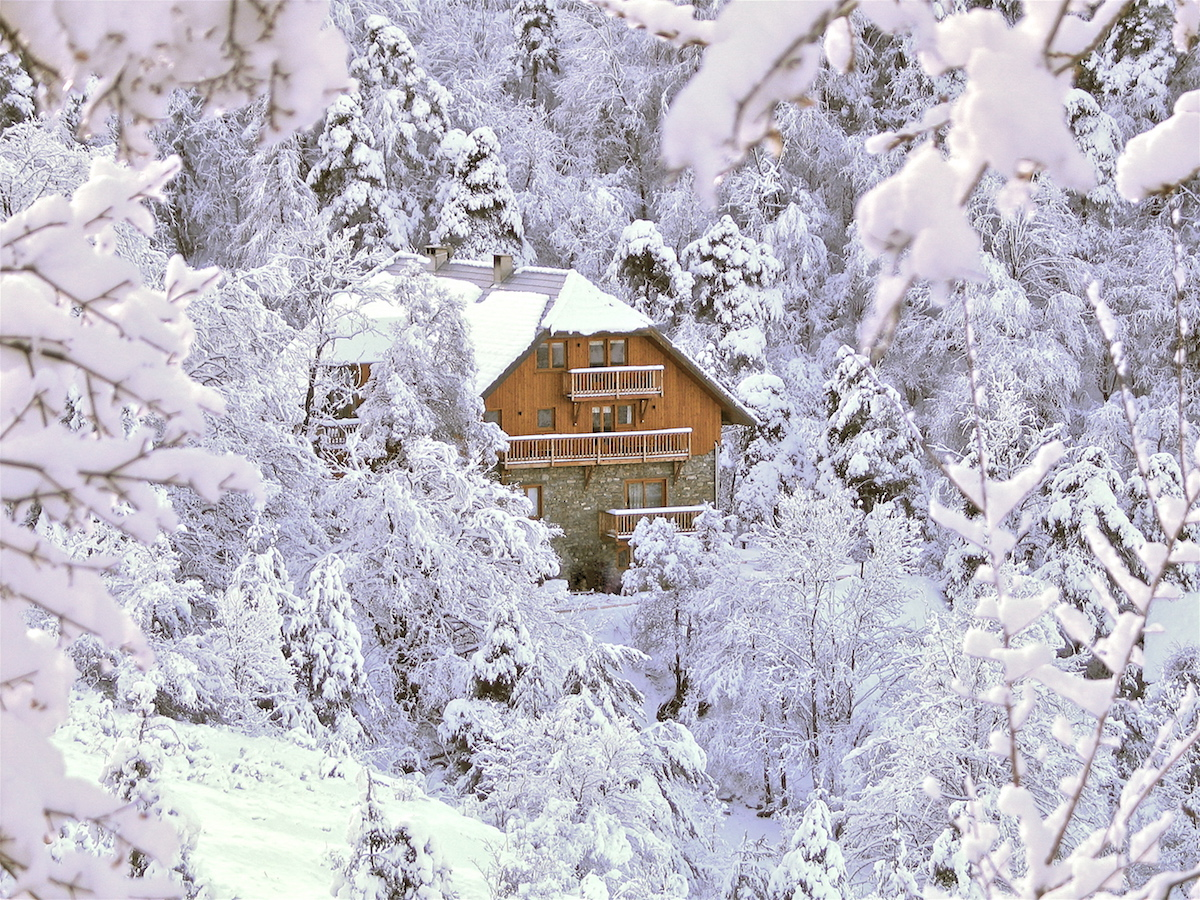 le moulin ollivier sous la neige