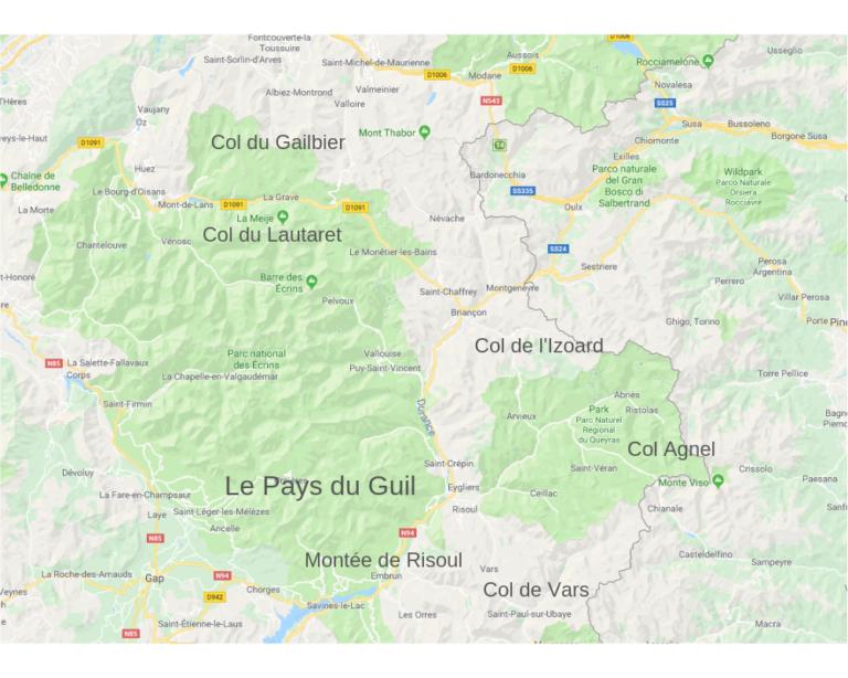 Les cols des Hautes Alpes