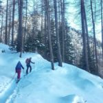Cross country skiing in de Queyras